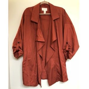 H&M Oversized Jacket with Waterfall Collar Sz M
